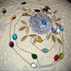 "Jewelry - ❤️ MULTI GEMSTONE TENNIS NECKLACE • 52""❤️"